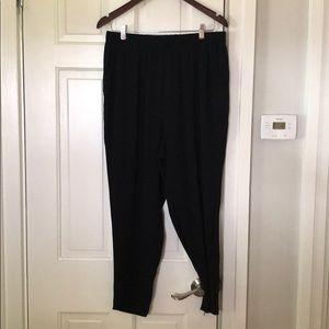 St. John Classic Ankle Dress Pants Black M